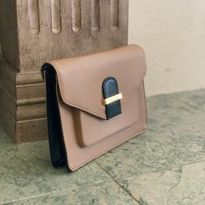 Ted Baker London, Taupe and Black PVC Clutch